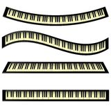 Set of keyboards. Colorful illustration with  set of keyboards icons  on a white background Stock Images