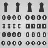 Set of keyholes,  illustration Stock Photography
