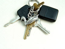 Set of Keys. Isolated and taken closeup Royalty Free Stock Photo