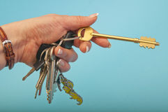Set of keys royalty free stock photos