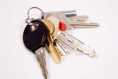 Set of keys. A set of normal random keys on a chain Stock Photo