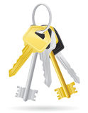 Set keys door lock  illustration Stock Images