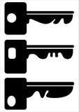 Set of keys icons isolated on white Stock Photos