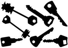 Set of keys illustration Stock Image