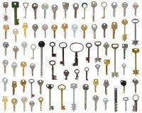 Set of keys isolated Stock Image