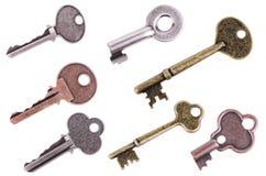 Set of keys. Isolated on white background Royalty Free Stock Image
