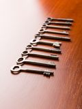 Set of keys on the table Stock Photos