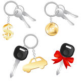 Set Of Keys. Vector Royalty Free Stock Images