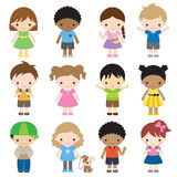 Set of Kid Characters Royalty Free Stock Photography