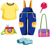Set of kid clothes Royalty Free Stock Images