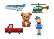 Set of kid toys isolated on white background royalty free illustration