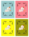 Set of kids birthday cards Royalty Free Stock Photo