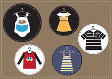 Set of kids clothes Stock Images