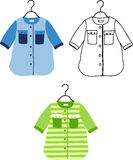 Set of kids costumes Royalty Free Stock Images