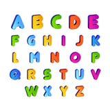 Set of Kids font alphabet vector in colorful design. Cartoon Alphabetical letters for baby. Set of Kids font alphabet vector in colorful designs. Cartoon stock illustration