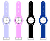 Set Kind-Armbanduhren Stockfotos