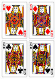 Set of kings playing cards 62x90 mm Royalty Free Stock Photo
