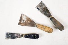 Set kit knifes na białym tle Zdjęcie Royalty Free