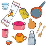 Set of kitchen accesories Royalty Free Stock Images