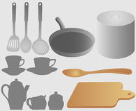 Set of kitchen accessories. Isolated Royalty Free Stock Photo