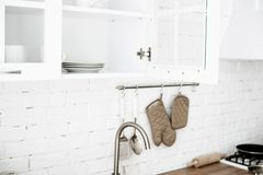 A set of kitchen accessories royalty free stock image