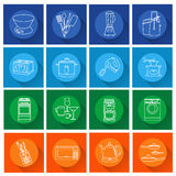 Set of kitchen appliances flat icons Royalty Free Stock Images