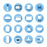 Set of kitchen appliances and tools web icons, Royalty Free Stock Photo