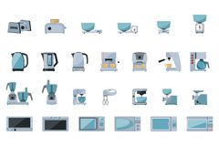 Set of kitchen appliances royalty free illustration