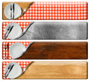 Set of Kitchen Banners with clipping path Royalty Free Stock Photo