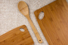 Set of kitchen boards Royalty Free Stock Image
