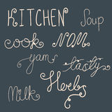 Set of kitchen doodles Stock Images