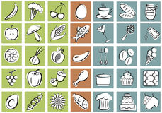 A set of kitchen equipment and food Stock Photography