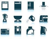 Set of kitchen equipment icon Stock Image
