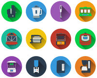 Set of kitchen equipment icons Royalty Free Stock Images