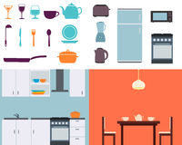 Set kitchen Stock Photography