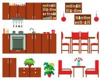 Set of kitchen furniture Stock Images