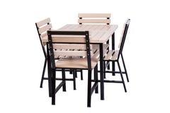 The set of kitchen furniture isolated on white Stock Photos