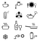 Set of kitchen icons Royalty Free Stock Image