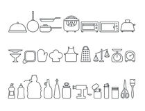 Set of kitchen icons Royalty Free Stock Photography