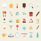 Set of kitchen icons Royalty Free Stock Image