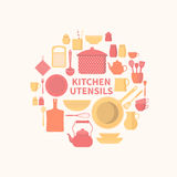 Set of kitchen icons Stock Photography