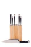 Set of kitchen knifes isolated on white Royalty Free Stock Images