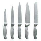 Set of kitchen knifes isolated on white Stock Image