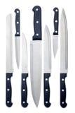 Set of kitchen knives. Isolated on white background Royalty Free Stock Image