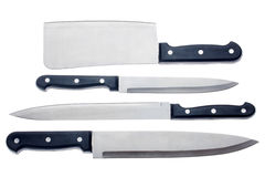 Set of kitchen knives Royalty Free Stock Image