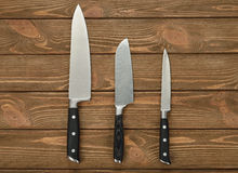 Set of kitchen knives Stock Photos