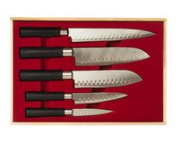 Set of kitchen knives Royalty Free Stock Photography