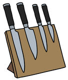 Set of kitchen knives Stock Images