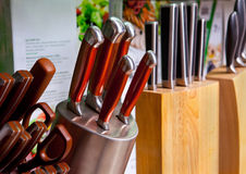 Kitchen knives Royalty Free Stock Image