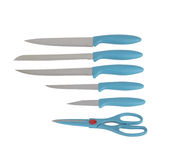 Set of kitchen knives Royalty Free Stock Images